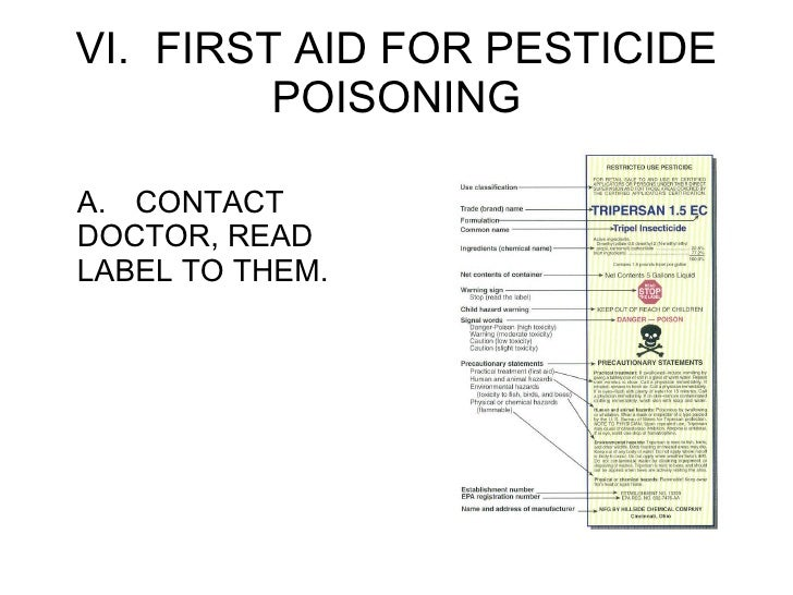 how to read a pesticide label