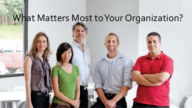 What Matters Most toYour Organization?