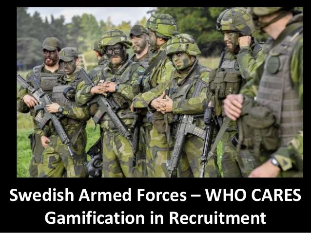 Swedish Armed Forces – WHO CARES Gamification in Recruitment