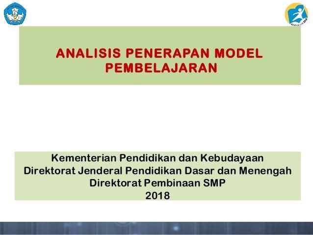 3 Analisis Model Pembelajaran