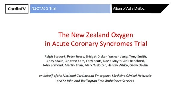 Alfonso Valle Mu�ozNZOTACS Trial