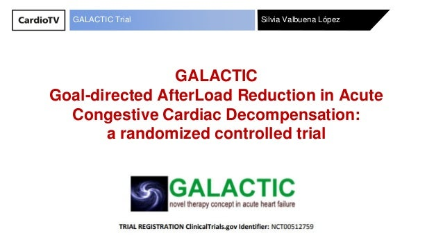 Silvia Valbuena LópezGALACTIC Trial GALACTIC Goal-directed AfterLoad Reduction in Acute Congestive Cardiac Decompensation:...