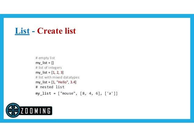 Python Variable Types, List, Tuple, Dictionary