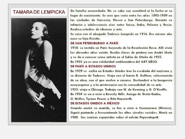 TAMARA DE LEMPICKA Slide 2