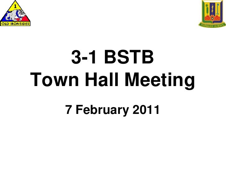 3-1 BSTB Town Hall Meeting<br />7 February 2011 <br />