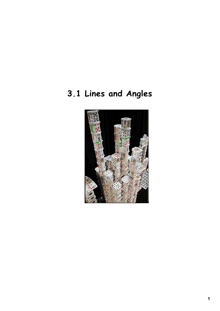 3.1 Lines and Angles                            1