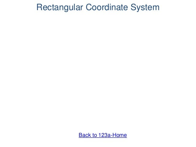 Rectangular Coordinate System Back to 123a-Home