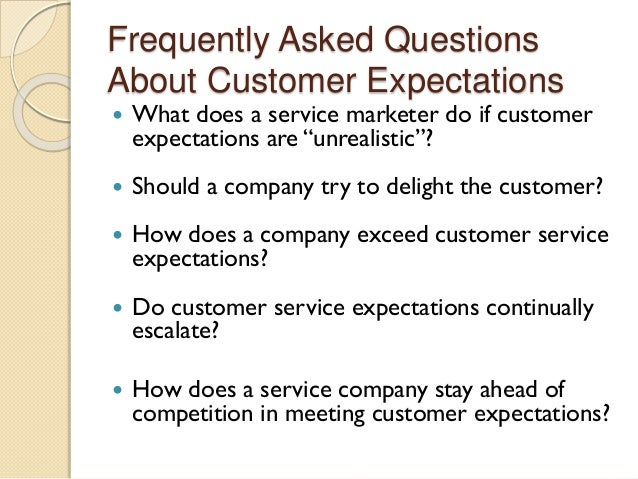 customer expectations and customer service essay