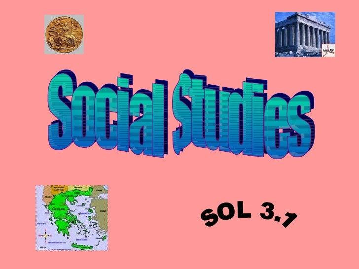 Social Studies SOL 3.1