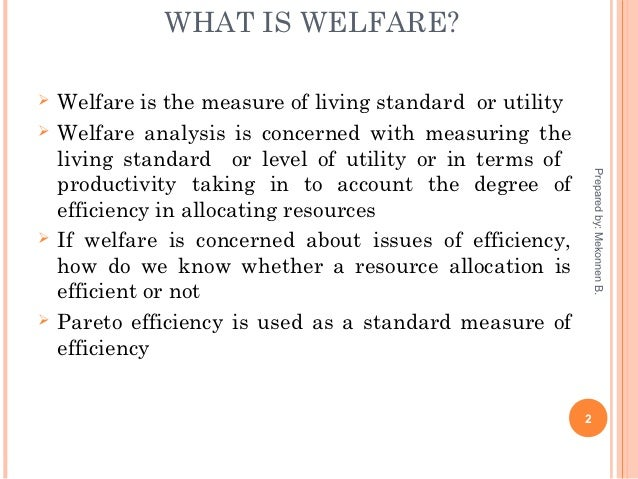 Welfare definition of economics
