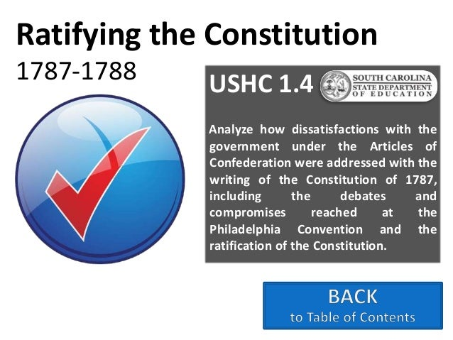 The Us Constitution Framing Principles Ratification