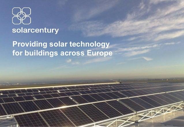 Providing solar technology for buildings across Europe
