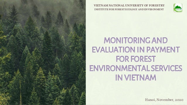 VIETNAM NATIONAL UNIVERSITY OF FORESTRY INSTITUTE FOR FOREST ECOLOGY AND ENVIRONMENT Hanoi, November, 2020