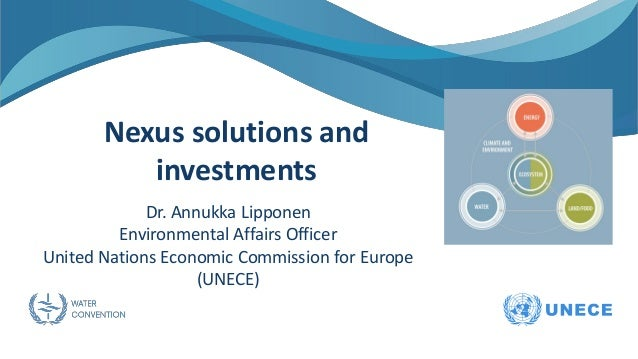 Nexus solutions and investments Dr. Annukka Lipponen Environmental Affairs Officer United Nations Economic Commission for ...