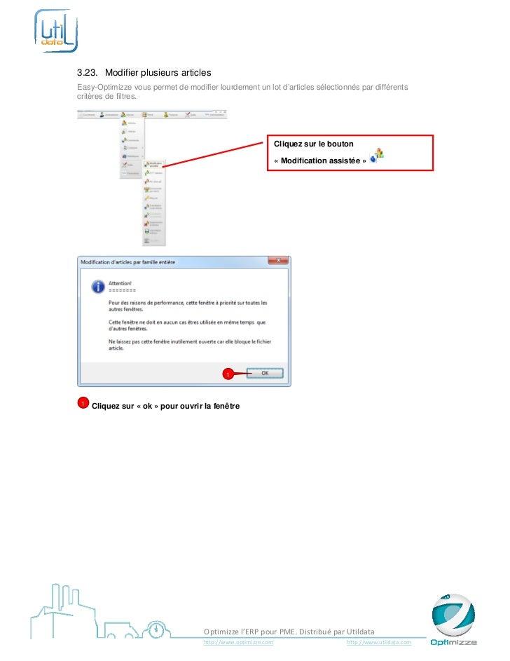 3.23. Modifier plusieurs articlesEasy-Optimizze vous permet de modifier lourdement un lot d'articles sélectionnés par di...