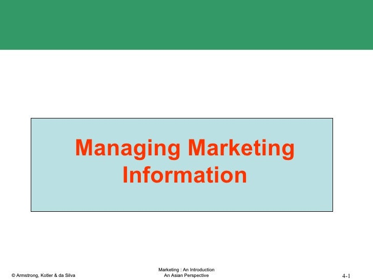 Managing Marketing Information