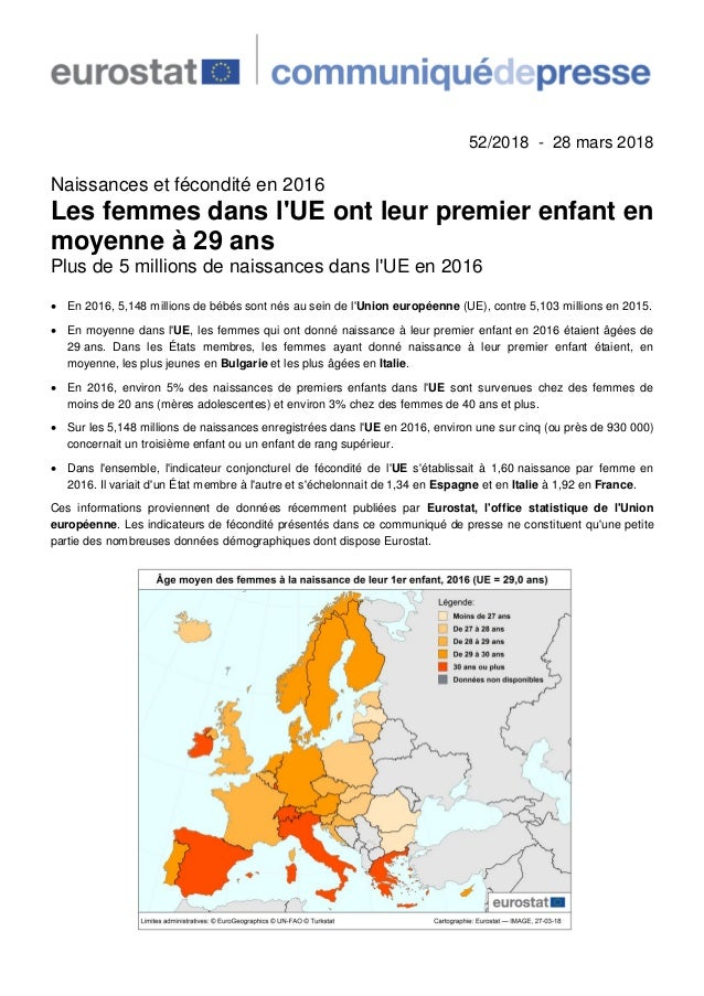 Fecondite Ue Eurostat