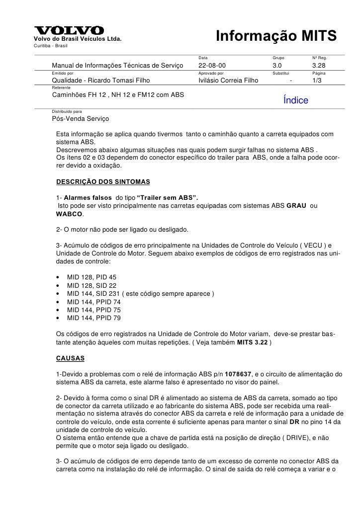 Volvo do Brasil Veículos Ltda. Curitiba - Brasil                                                                    Inform...
