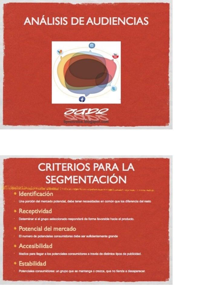 ANÁLISIS DE AUDIENCIAS