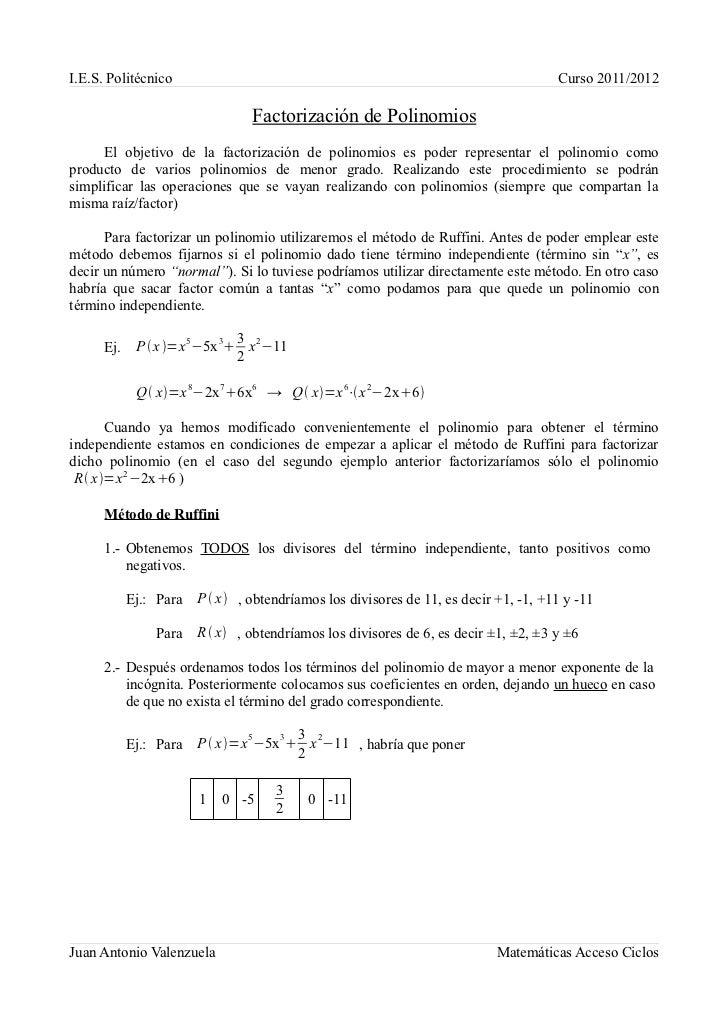 I.E.S. Politécnico                                                                     Curso 2011/2012                    ...