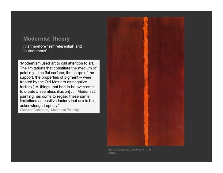 notes on clement greenbergs modernism Jon anderson lecture on clement greenberg's subject v medium debate in modernism  clement greenberg and post-painterly abstraction  modernist painting an essay by greenbergwmv - duration:.