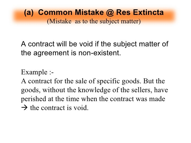 mutual mistake in contract law A mutual mistake occurs when the parties to a contract are both mistaken about the same material fact within their contract they are at cross-purposes.