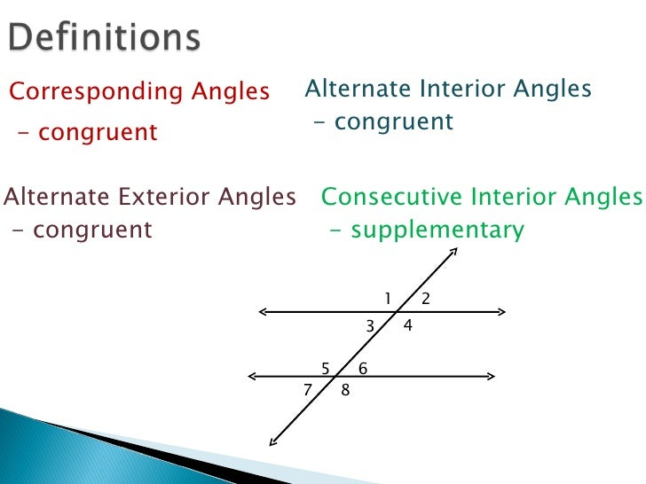 Techmathi 3 2 parallel lines and transversal - Same side exterior angles are congruent ...