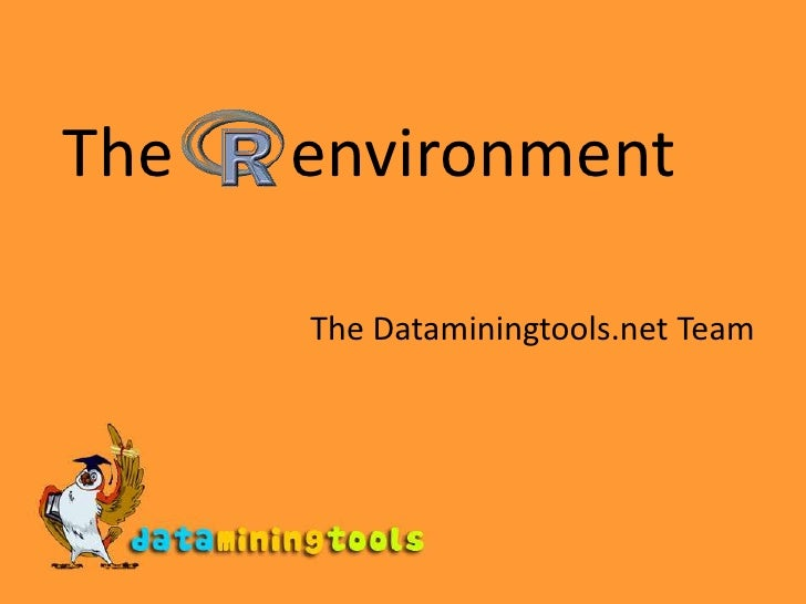 The       environment<br />The Dataminingtools.net Team<br />