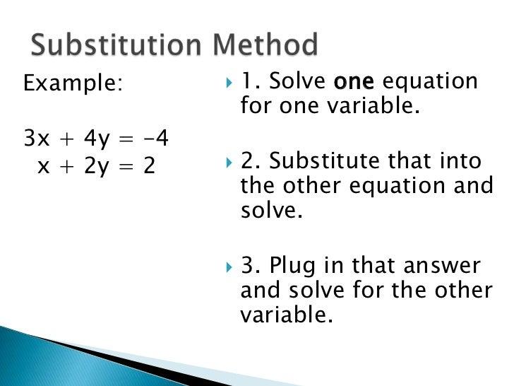 3.2 Solving Linear Systems Algebraically
