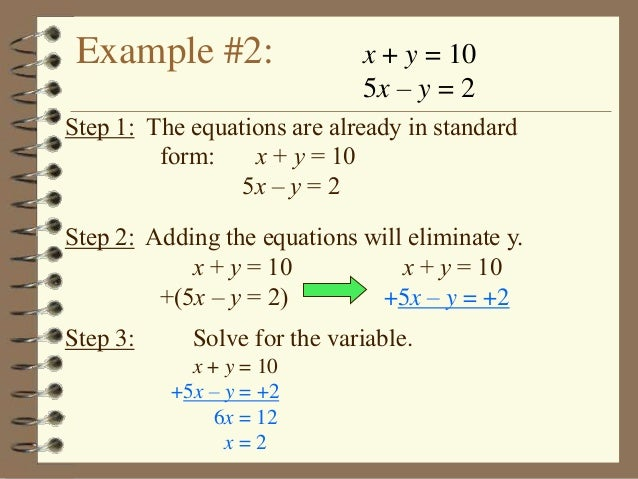 3 2 Solving Systems Of Equations Elimination Method