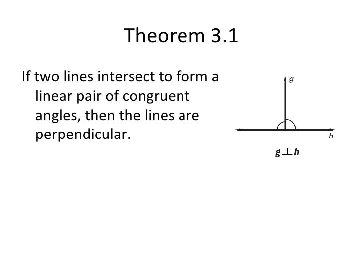 3.2 theorems about perpendicular lines