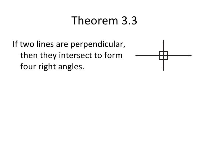 32 Theorems About Perpendicular Lines