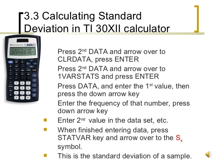 how to find the mean and standard deviation in calculator