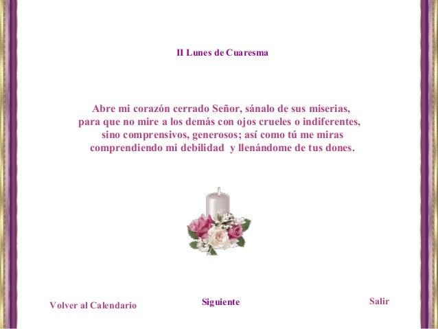 Abre Mi Calendario.Oracion De Cuaresma
