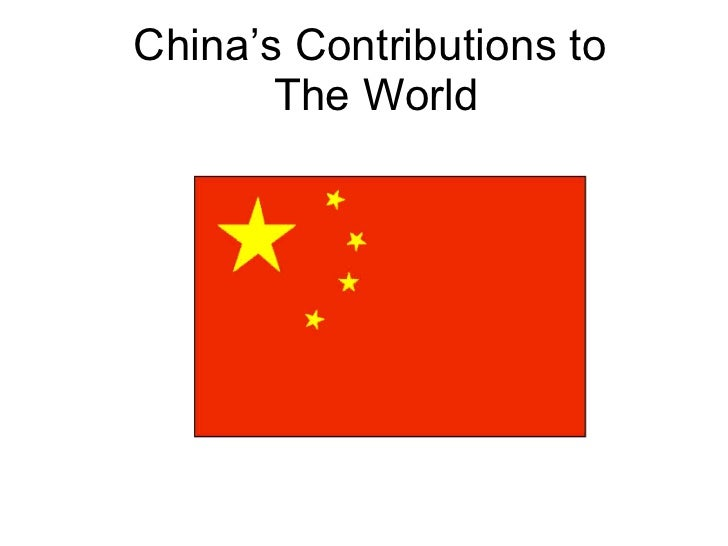 China's Contributions to  The World 3-308