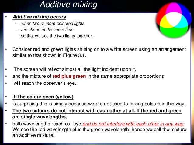 33 Additive And Subtractive Mixing