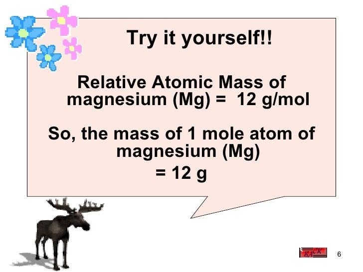 3.3 (b) Relative Atomic Mass