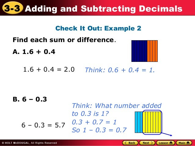 3 3 i can add and subtract decimals