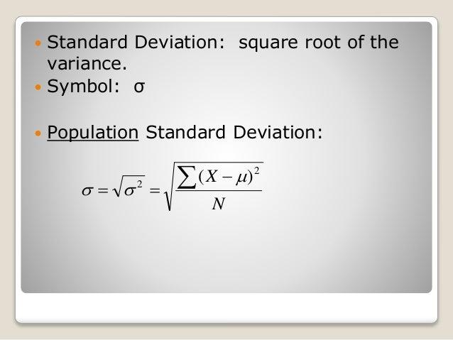 3.3 Measures of Variation