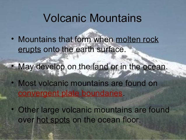 Volcanic evolution of the Pacific Northwest: From the ... |Volcanic Mountains Formation