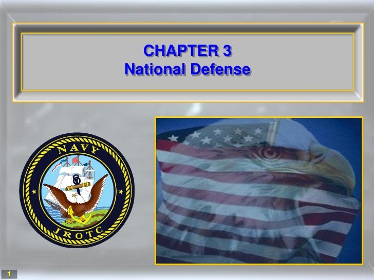 CHAPTER 3     National Defense     1