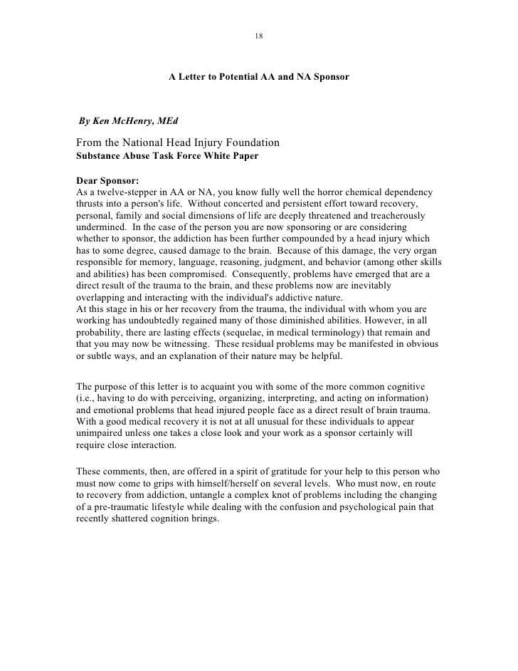 Aa Sponsor Reference Letter