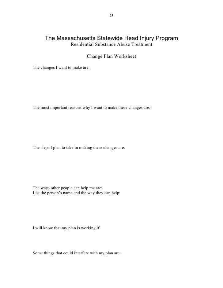 Dependency Worksheets Delibertad – Substance Abuse Worksheets