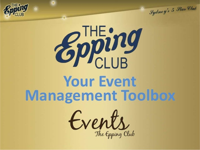 Your EventManagement Toolbox