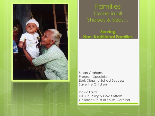 Families       Come in all     Shapes & Sizes…         Serving  Non-Traditional FamiliesSusan Graham,Program SpecialistEar...