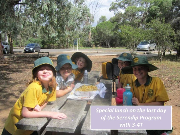 Special lunch on the last day  of the Serendip Program          with 3-4T
