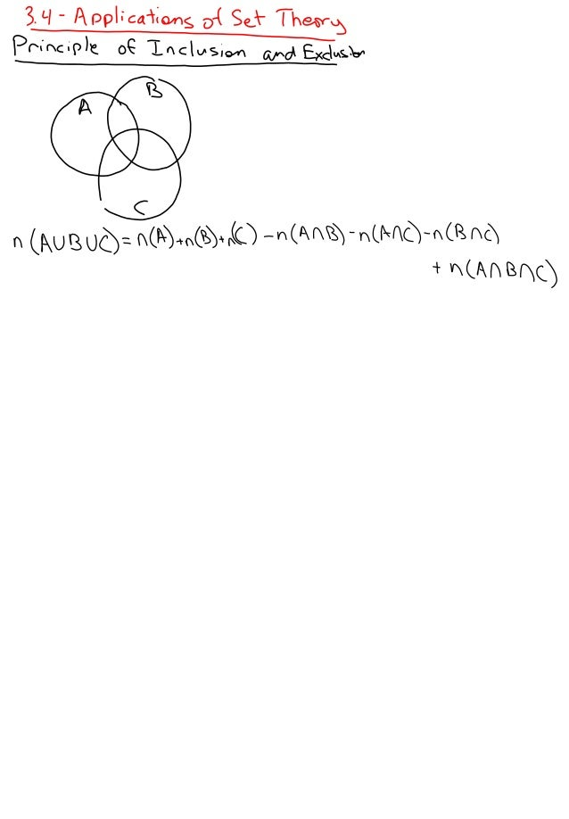 3.4   Application of Set Theory