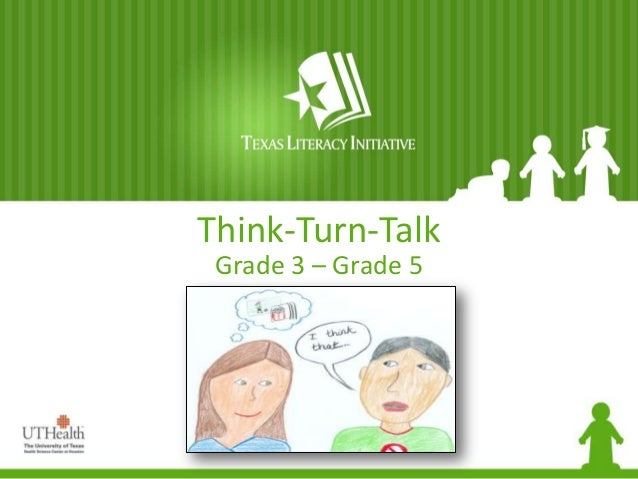 Think-Turn-Talk Grade 3 – Grade 5