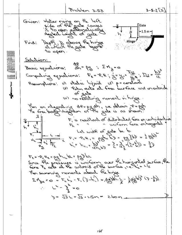 Fundamentals of fluid Mechanics 5th Edition Solution manual pdf