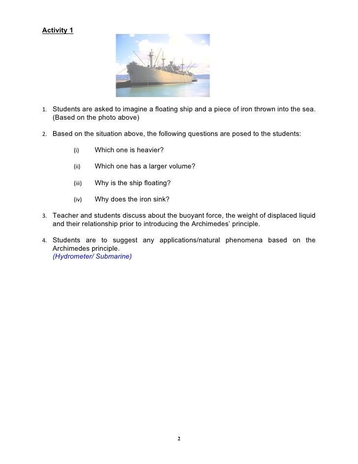 3.5 Applying Archimedes Principle Slide 2